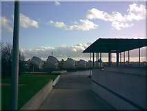 TQ4179 : View of Thames Barrier from Thames Barrier Park by Robert Lamb