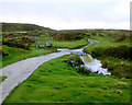 NZ0709 : Bridleway to How Tallon crosses swollen beck by Andy Waddington