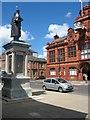 NZ3265 : Palmer Statue overlooking Jarrow Town Hall by Vin Mullen