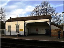 TQ2575 : An ancient piece of Railway Architecture on Platform 4 at Wandsworth Town Station by tristan forward