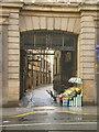 SJ3490 : Flower stall, Queen's Building, Dale Street by Alexander P Kapp