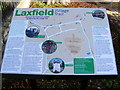 TM2972 : Laxfield Village Trail Sign by Adrian Cable