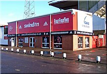 SU1585 : Swindon Town Football Club shop, The County Ground by P L Chadwick