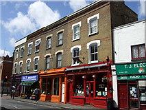 TQ3386 : Shop fronts in Church Street by ceridwen