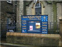 SD8789 : Hawes Methodist Church, Sign by Alexander P Kapp
