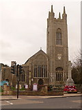 TM3389 : Bungay: St. Mary's church tower by Chris Downer