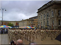 SJ9399 : The local regiment has returned from Iraq by Bill Boaden