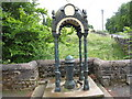 NY7843 : Covered drinking fountain in Nenthead by Philip Barker