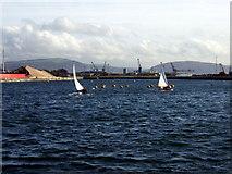 SS6692 : Windsurfing in Swansea dock by ceridwen