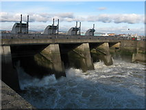 ST1972 : Sluices on Cardiff Bay Barrage by Gareth James