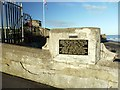 NZ5333 : Memorial plaque near the Heugh Battery by Andrew Curtis