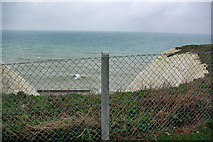 TQ4100 : Peacehaven - WGS-84 meridian marker by Robin Webster