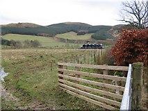 NT2538 : Fields at Bonnington by M J Richardson