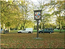 TL6706 : The village sign at Writtle by Robert Edwards