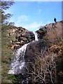 NM4850 : Waterfall on the Allt a' Chlogaid by Karl and Ali