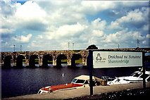 M9625 : Shannonbridge - River Shannon bridge (R357) by Joseph Mischyshyn