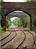 SO7845 : Looking north from Great Malvern railway station by John Lucas