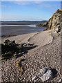 SD4476 : Shingle beach, Far Arnside by Karl and Ali