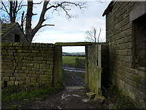 SK2767 : View from a tumbledown barn by Peter Barr