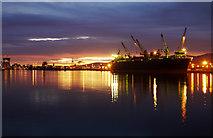 J3576 : Dusk at Belfast docks by Rossographer