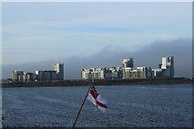 NT2677 : Flats and a flag by edward mcmaihin