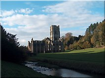 SE2768 : Fountains Abbey from the East by Neil Theasby