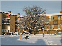 TL4658 : December Snow 2009 - East Road Flats by Keith Edkins