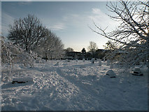 TL4658 : December Snow 2009 - Mill Road Cemetery by Keith Edkins
