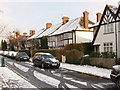 TQ1981 : Tudor Gardens in snow by David Hawgood