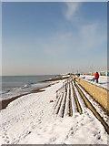 TQ2704 : Sea Wall, Western Esplanade by Simon Carey