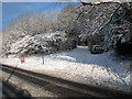 NZ5415 : Snow-bound footpath from the A171 near Swan's Corner by Philip Barker