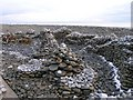SN1606 : Dr. Geebers, the Pebble Man's Amroth Sculpture by Hywel Williams