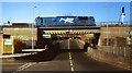 J3474 : The Laganbank Road railway bridge, Belfast by Albert Bridge