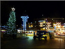 SZ0891 : Bournemouth: The Square at Christmastime by Chris Downer