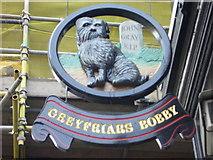 NT2573 : Greyfriars Bobby's Bar pub sign by kim traynor