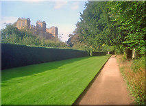 SK4663 : South Court Garden perimeter path by Trevor Rickard