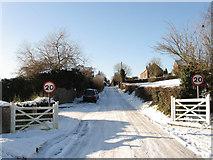 TQ2912 : School Lane by Simon Carey