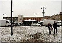 SJ9399 : Slushy Ashton Market Ground by Gerald England