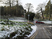 SU9948 : Looking along Ferry Lane towards the entrance to The College of Law on St Catherine's Hill by Basher Eyre