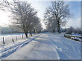 TL0977 : Brington road towards the B660 by Michael Trolove