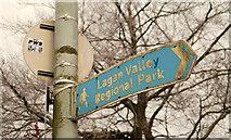 J3269 : Faded towpath sign, Belfast by Albert Bridge