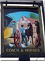 SU3013 : Sign for the Coach and Horses, Cadnam by Maigheach-gheal