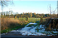 SP5360 : Gate into field, Hellidon Road, Staverton by Andy F