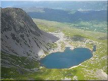 SH7013 : Llyn y Gadair from near the summit of Penygadair, Cadair Idris. by Colin Park