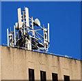 J3474 : Telecommunications mast, Belfast by Albert Bridge
