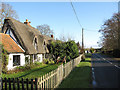 TL6252 : Thatched Cottage, Weston Green by Hugh Venables