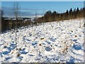 NS4077 : Snow-covered slope by Lairich Rig