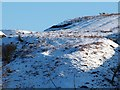 NS4178 : Bomb crater beside Auchenreoch Glen by Lairich Rig