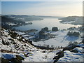 NY3603 : Above The Brathay by Michael Graham