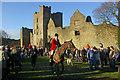 SO5074 : Ludlow Hunt, Ludlow Castle by Ian Capper